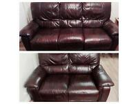 Harvey's recliner sofas chestnut leather immaculate can deliver.