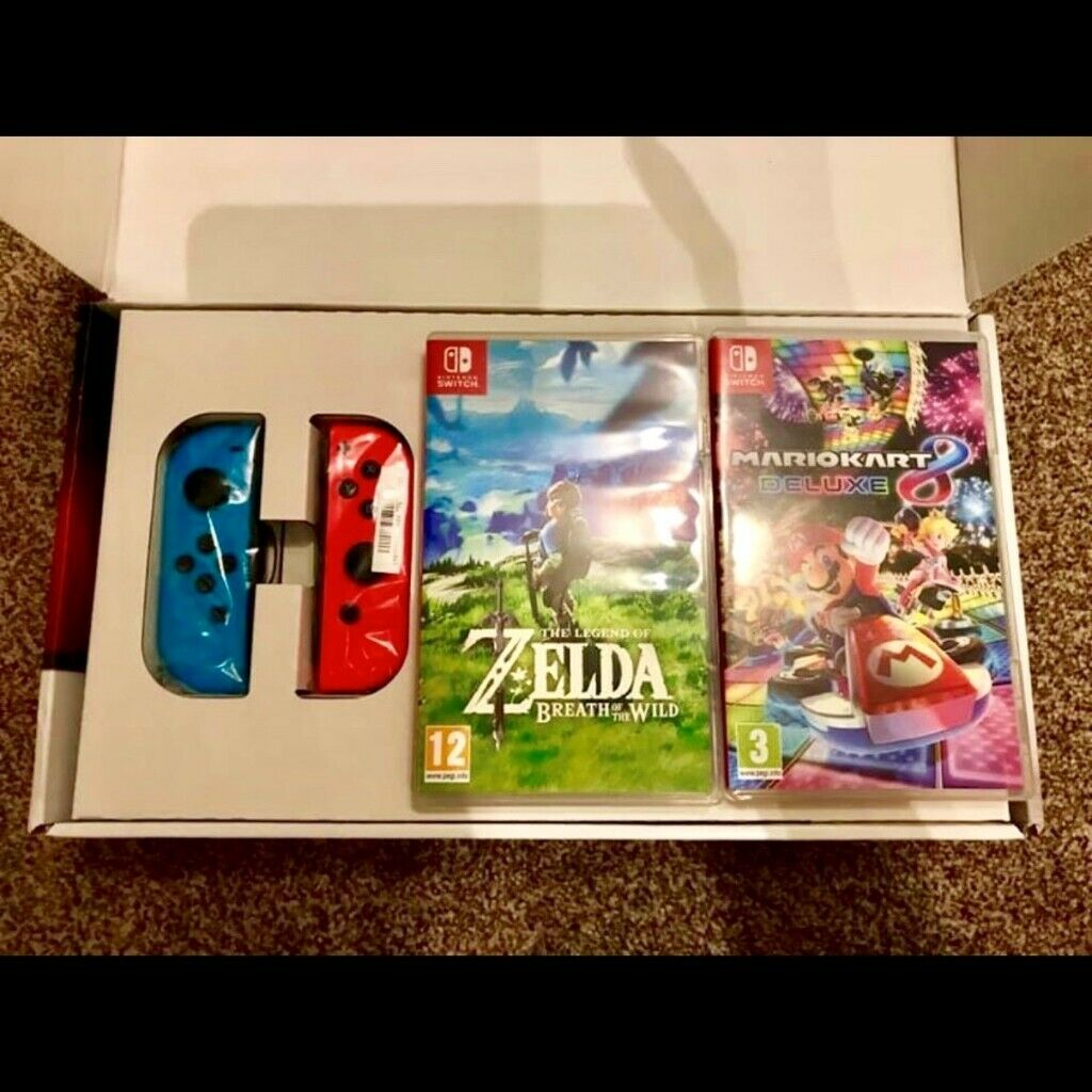 Nintendo Switch + Zelda BOTW & Mario Kart 8 Deluxe | in Bury St Edmunds,  Suffolk | Gumtree