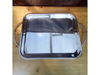 Vassoio Stainless Steel Heavy Serving Tray 60cm Made In Italy