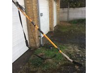 Extendable chainsaw hedge/tree cutter