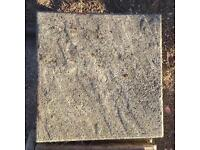 45 x Decorative Riven Style Paving slabs - 44x44 cm ( will split at £2 each)