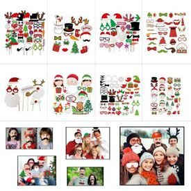 Merry Christmas Party Photo Booth Props for Xmas, Parties, Function, Events