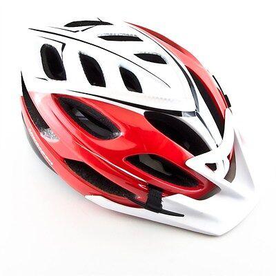 Ultrasport Erwachsenen Fahrradhelm Nice, Schwarz/Weiß/Silber/Rot, 58 - 62 cm