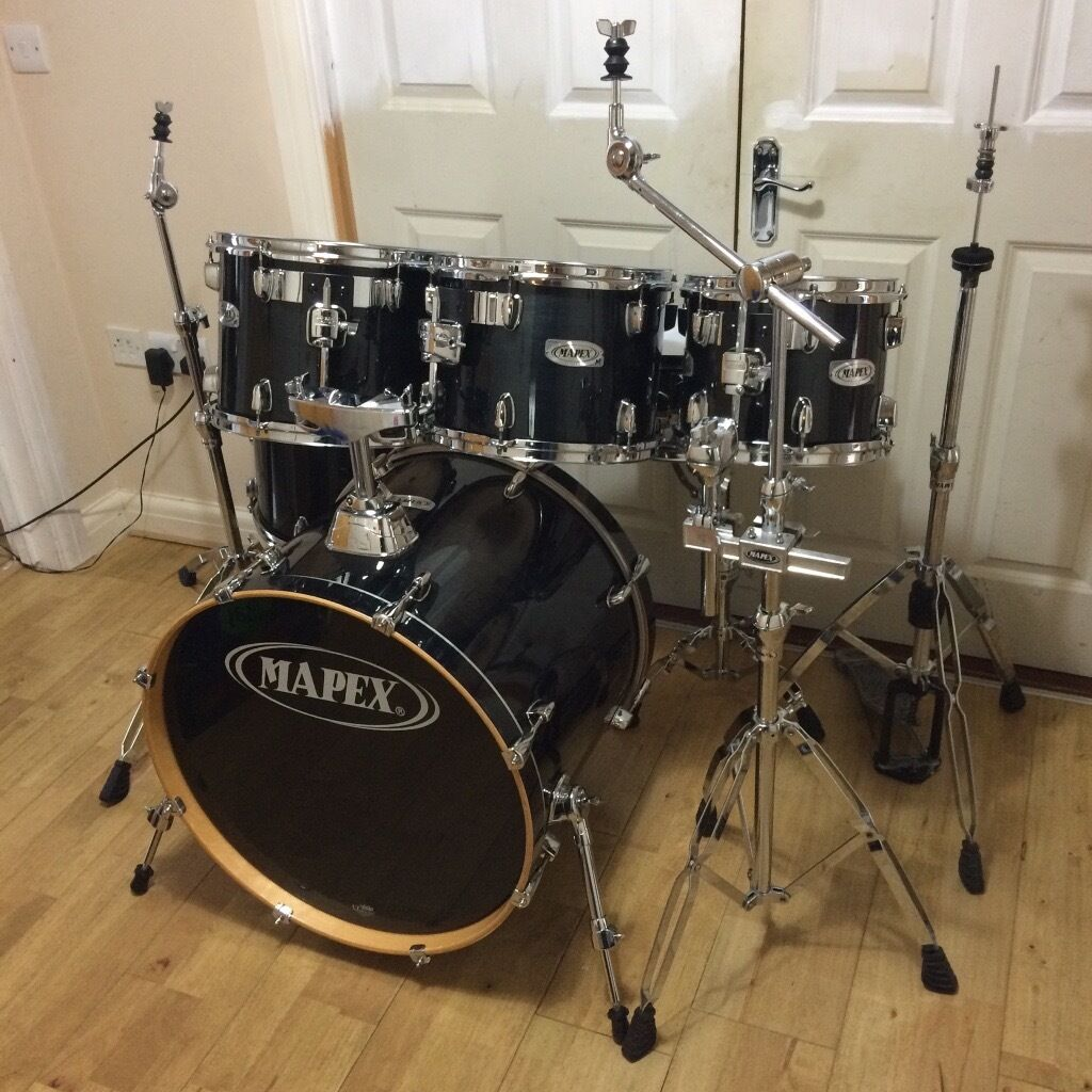 Fully Refurbished Black Mapex M Series 6 Piece Drum Kit Free Local Delivery