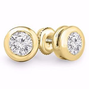 BOUCLES D'OREILLES ABORDABLES EN DIAMANTS DE .50 CARAT SUR OR 14K / 14K GOLD AFFORDABLE DIAMOND EARINGS .50 CTW