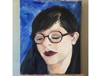Young Girl Original Oil Painting by Jimmi Darbyshire