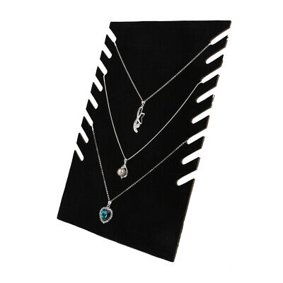 Velvet Necklace Pendant - Chain Jewelry Bust Display Holder Show Window
