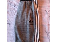 Grey Adidas tracksuit bottoms