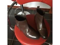 Dune brown ankle boots