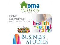 GCSE/AS/A2 Tutor (HE, Health & Social, CD, Business)