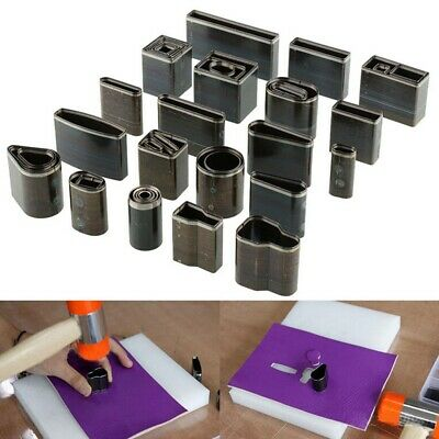 Pro Leather Craft DIY Tools Kit 39 Shape Style Hole Hollow Cutter Punch Set