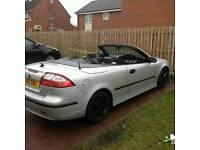 2004 saab 93 convertible 1.8t silver alloys leathers 120k fsh mot bargain £1200