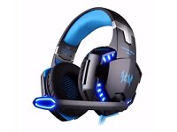 NO BOX BUT BRAND NEW Gaming LED Over-Ear Headphone Headset with Mic With Noise Cancelling