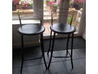 2 John Lewis bar chairs