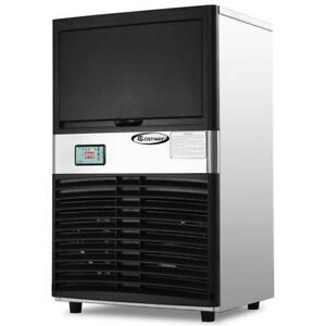 Commercial Ice Maker Automatic Stainless Steel 100lbs/24h Freestanding Portable - BRAND NEW - FREE SHIPPING