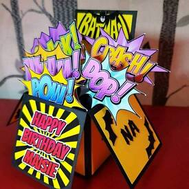 Handmade Pop Up Box Cards For Any Occasion Birthday Wedding Anniversary Engagement