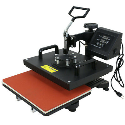 Used 6 In 1 Heat Press T-shirt Hat Cap Mug Digital Transfer Sublimation Machine