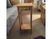 Bespoke Solid Oak Side/Lamp Tables X 2 in VGC. QUICK SALE £65
