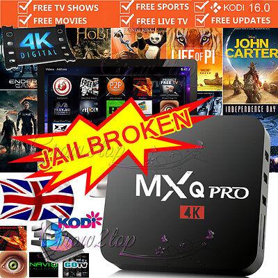 2017 MXQ PRO 4K Quad Core Android 6.0 TV Box FILM KODI 17.1 Media Player UK