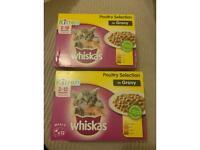 Whiskas kitten wet food pouches