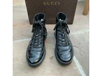 Gucci patent high top trainers size 4