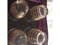 Wine glasses and matching water glasses