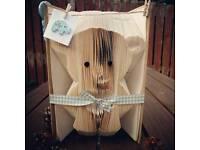 Baby boy / girl bookfold, book art, Christening gift, baby shower gift, child gift.