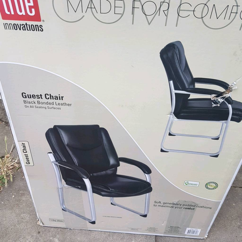 Black Bonded Leather Chair Brand New