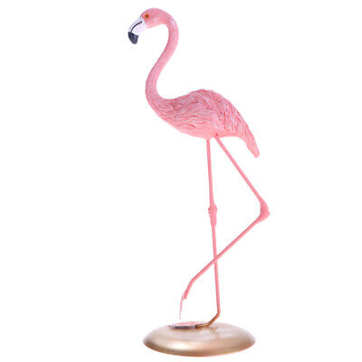 Pink Flamingo Ornament Figurines Garden Lawn Grassland Pond Decor Ornament A