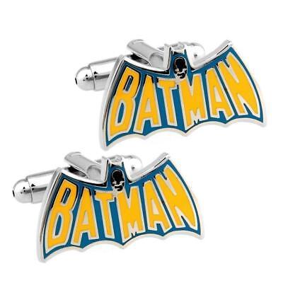 BATMAN CUFFLINKS Vintage Cape Design Comic Superhero w GIFT BAG Wedding Groom (Superhero Wedding)