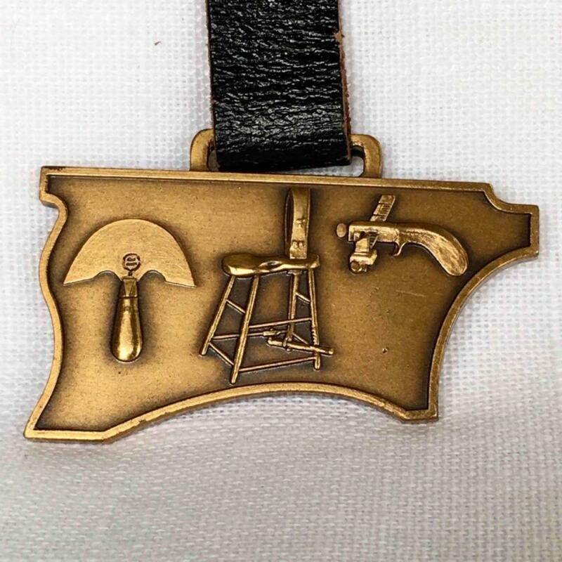 Vintage (Leather) Harness Makers Get-Together Brass Watch Fob