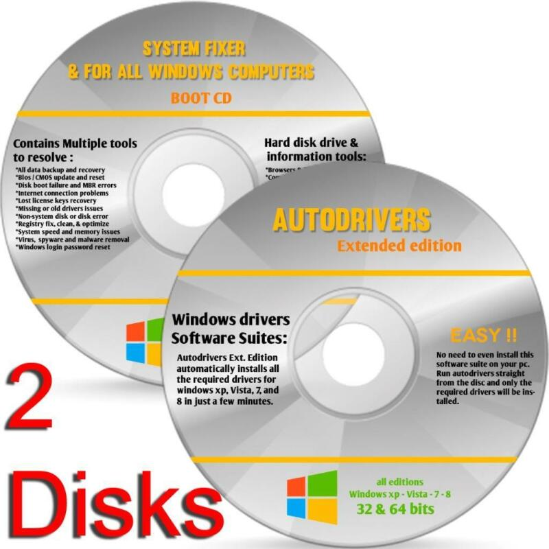 Windows 10 NEW All Versions 32 64bit Restore Repair Install Upgrade 2 DVD