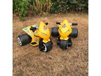 2 x Samurai Avigo 3 Wheeler Electric Kids Motorbikes