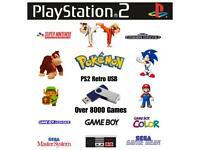 PS2 Retro game USB Sega Nintendo SNES NES Gameboy Megadrive Master System