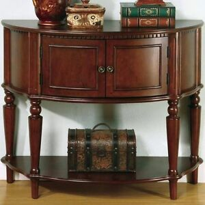 Brown Finish Entry Console Hall Table With Storage Shelf By Coaster 950059