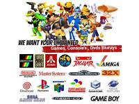 WANTED Sega, Nintendo, PlayStation, Xbox, Dvds & Blurays ps4 ps3 one snes