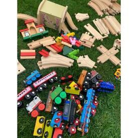 Wooden train set Thomas the tank toys