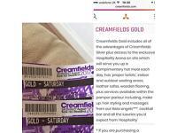 2 gold Saturday creamfields tickets