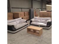 Brand new grey jumbo chord 3 + 3 sofa suite
