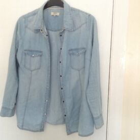 Papaya lightweight denim shirt size 16