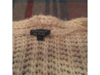 Top shop chunky knit cardigan