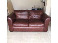 Laura Ashley 2 Seater Wakehurst Tan Heritage Leather Sofa