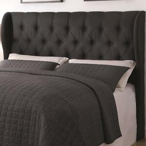 Upholstered Beds King/ California King Murrieta Headboard with Button Tufting NEW
