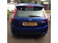 "2006 Ford Fiesta st 2.0 150 bhp full mot 48000 miles Hpi clear blue 17"" alloys 1/2 leather may px"