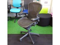 Graphite Herman Miller Aeron Chair with Lumbar Support (10 available)