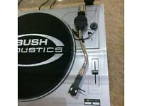 Bush MTT2 belt drive turntable - silver. Twin speed.