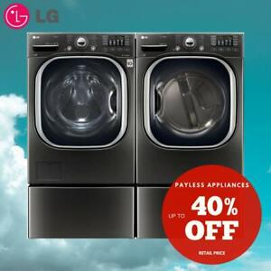 LG WM4370HKA Front Load 5.2 cu. ft. Ultra Large Capacity TurboWash Washer And DLEX4370K 27 Electric Dryer Pair Sale