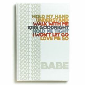 I Got U Babe Wall Art/Hanging (Wooden Not Canvas) Brand New & Boxed.