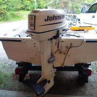 2003 - 30hp Johnson Outboard with elec. start and controls