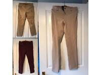 Various women's trousers